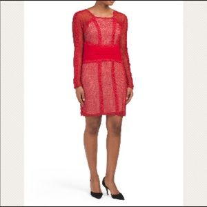 NWT Red Free People Bodycon Dress Long sleeves
